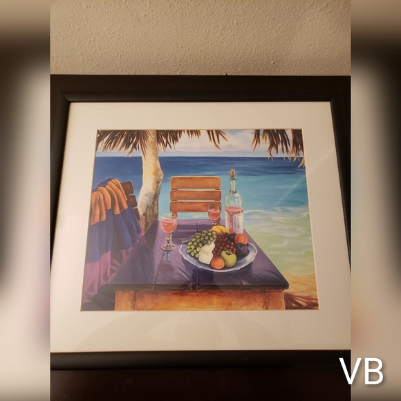 Paradise Black Framed Picture.